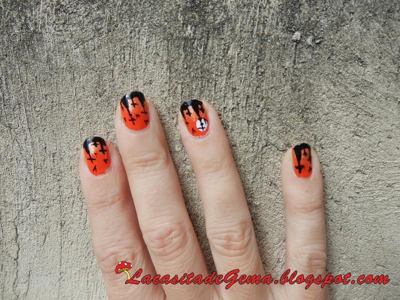 La casita de Gema: Tutorial uñas decoradas (Nail art) Nº52 Halloween ...