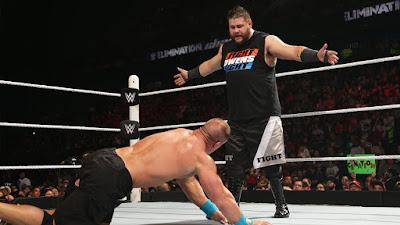 Kevin Owens stalking John Cena