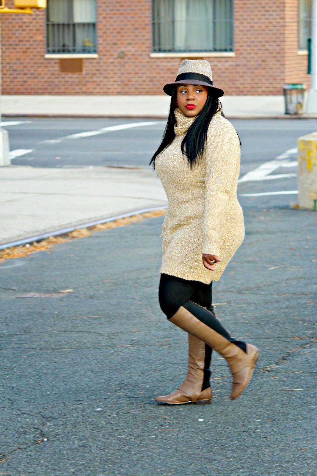 h&M turtleneck sweater dress