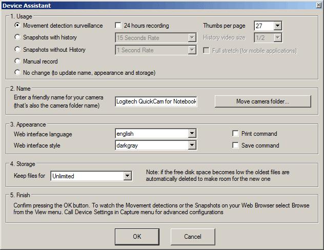 ContaCam Device Assistant