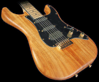 Schecter USA Custom Shop Natural Koa Strat