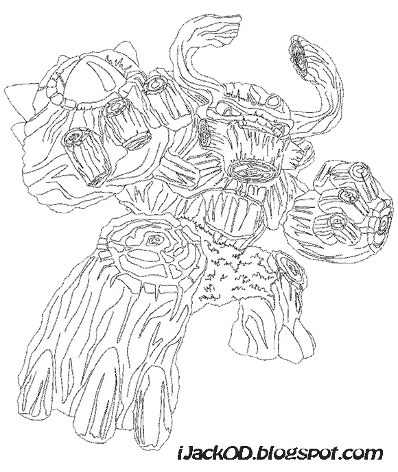 tree rex coloring - Skylander Coloring Pages Tree Rex