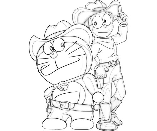 Doraemon And Nobita Coloring Pages For Kids Gtgt Disney
