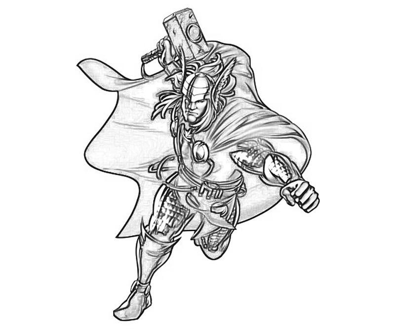 Marvel vs Cap Thor Coloring