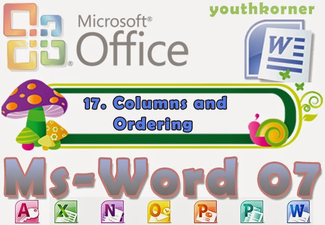 Columns and Ordering in Word 2007