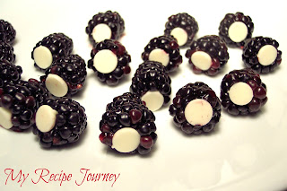 White Chocolate Stuffed Backberries