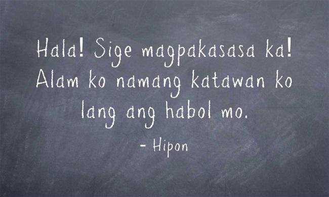 hipon tagalog riddle