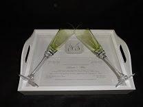 Bandeja Convite - presenteie os noivos com o próprio convite deles em uma linda bandeja