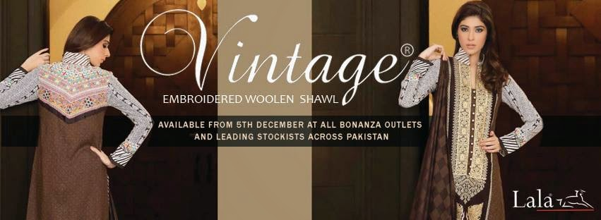 Embroidered Winter Shawl Collection by Vintage