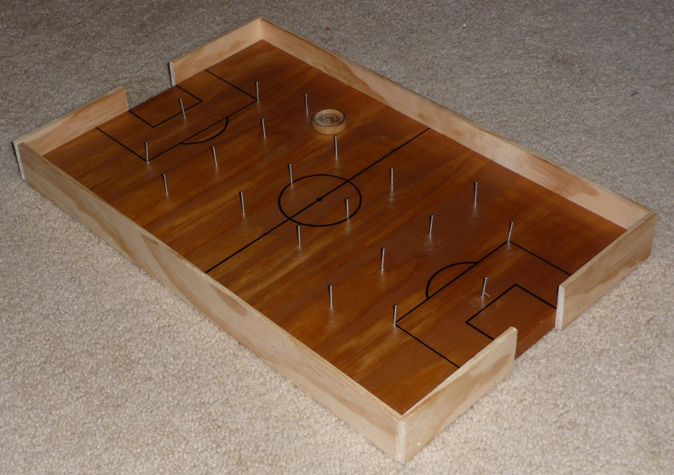 The Shelton Family Homemade Soccer Board Game Adorable Homemade Wooden Board Games
