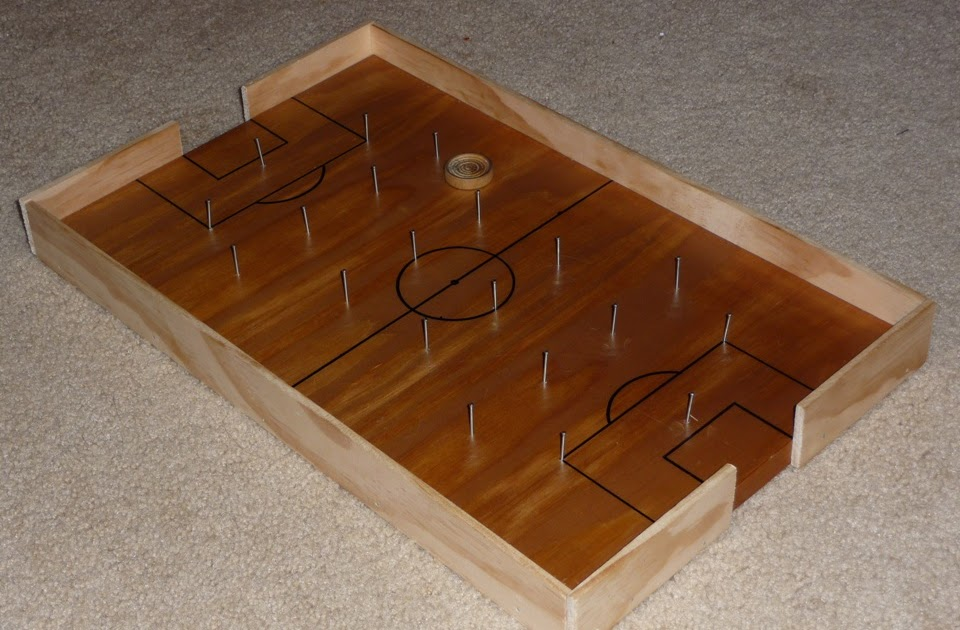 The Shelton Family Homemade Soccer Board Game