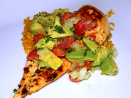 ... Make a Meal: Cilantro-Lime Chicken with Avocado Salsa and Saffron Rice