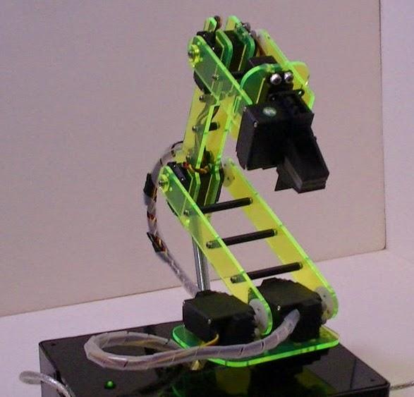 membuat robot arm menggunakan akrilik gb.2