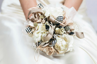 May Satin and Ribbon Bouquet