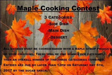 5-6 Maple Cooking Contest, Coudersport, PA