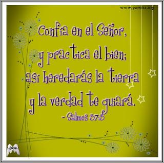 Tarjeta – Confia en El Señor y practica el bien