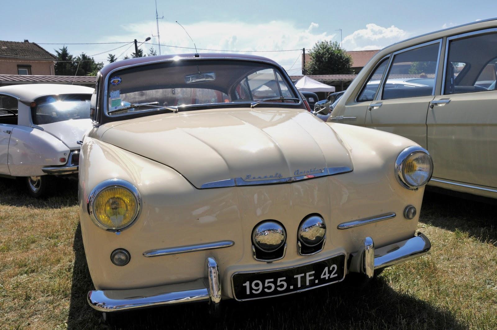 sport automobile  anciennes et modernes  renault 4cv autobleu coup u00e9 de 1955  r u00e9trofor u00e9zien 2008