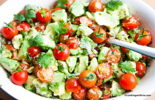 Ria's Avocado-Tomato Salad with Cilantro