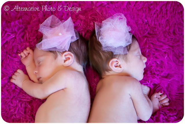 Newborn Twin Girls | Newborn Photographer Janesville, WI