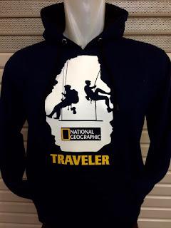 tempat jual jaket hoodie traveler Jaket hoodie traveler warna hitam seri National Geographic terbaru musim 2015/2016
