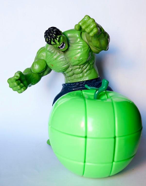 3x3x3 Manzana Rubik Verde Hulk