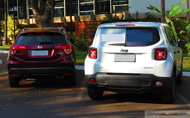 Honda HR-V x Jeep Renegade - consumo