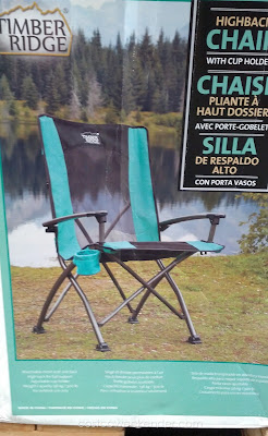Timber Ridge High Back Quad Chair: portable and easily foldable