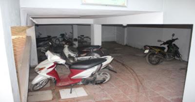 Hầm để xe 2 tầng trong chung cư Phú Thượng B, Tây Hồ