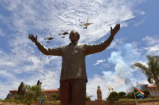 See Mandela Statue in Pretoria .