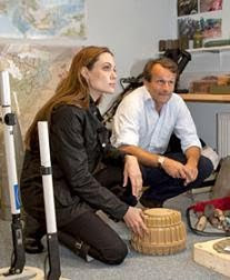 Angelina Jolie visits anti-landmine charity