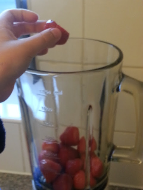 Strawberries in Blender