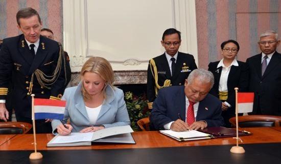 Republik Indonesia – Belanda Tandatangani MoU Kerjasama Pertahanan