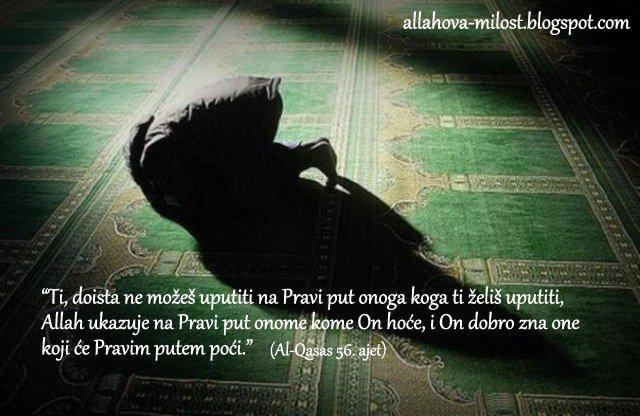 Pretekla ga Allahova milost!