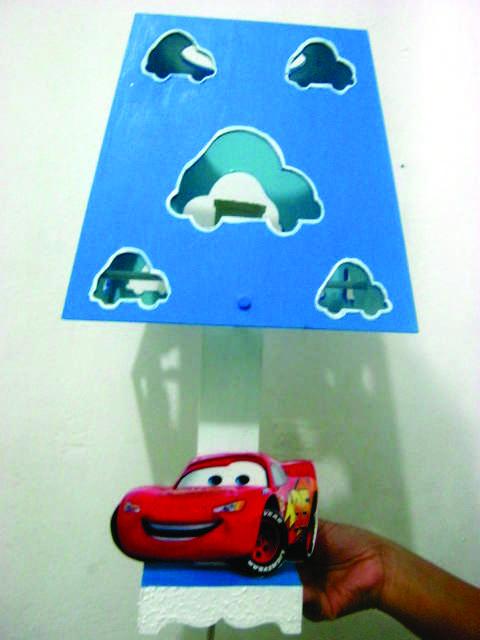 Mis manualidades en trupan lamparas personalizadas de trup n - Lamparas para habitaciones infantiles ...