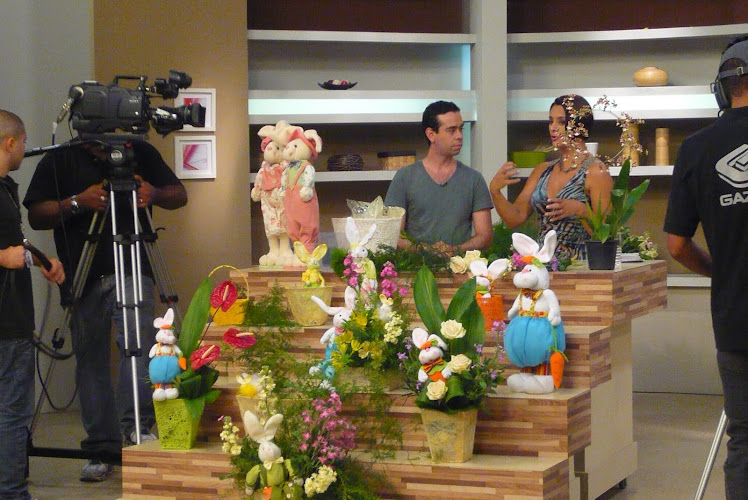 IKEBANA DE PASCOA TV GAZETA MULHERES