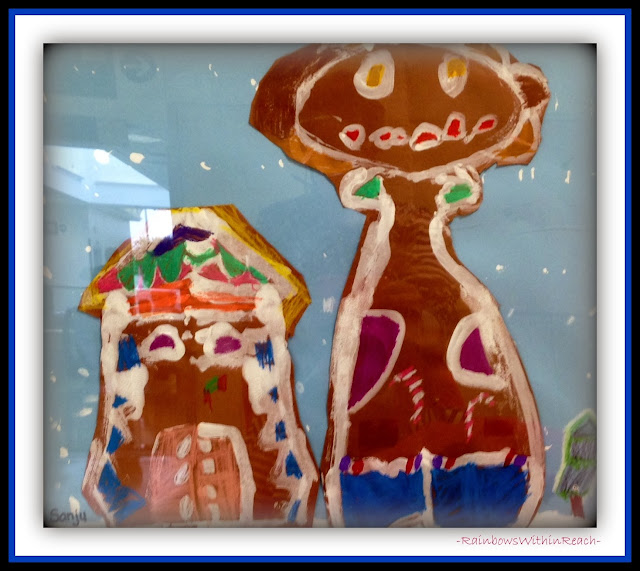 Gingerbread Painted Collage in Mixed Media via RainbowsWithinReach