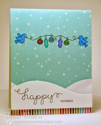 Happy Holidays Card by Tessa Wise for Newton's Nook Designs