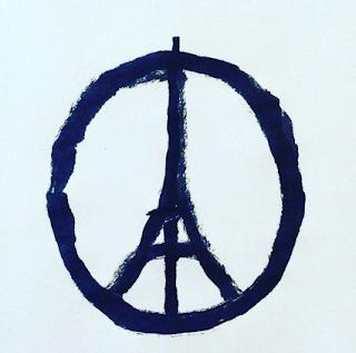 Peace for Paris sign