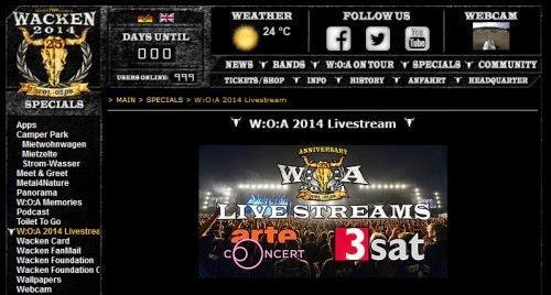 Wacken Live Stream