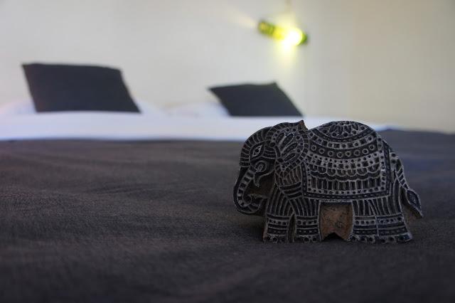 blockprint wood elephant