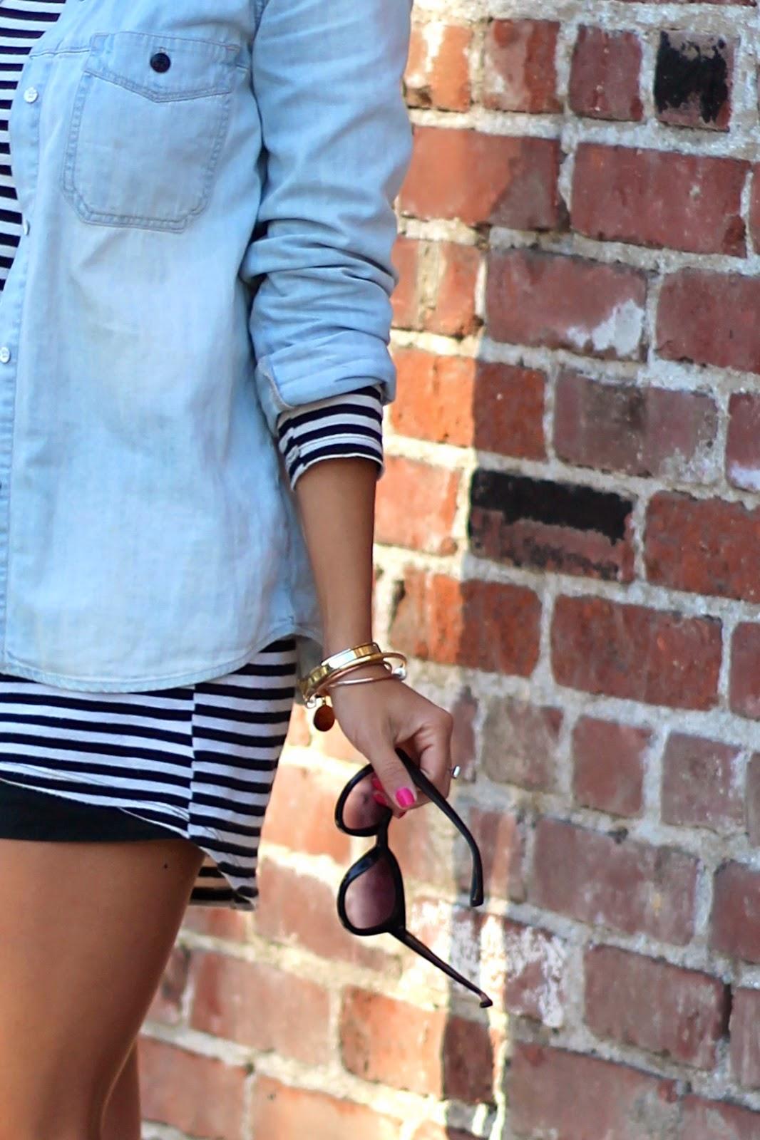 madwell shirt lna dress layering