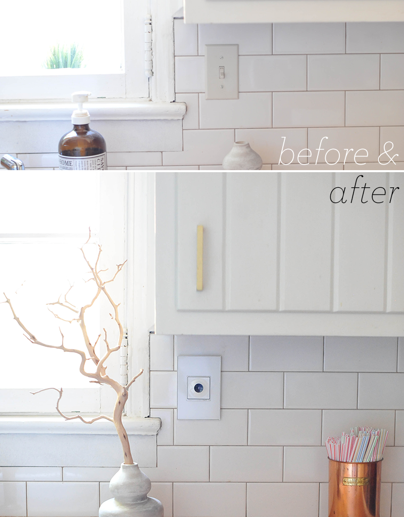 Kitchen DIY Before & After |  adorne by legrand