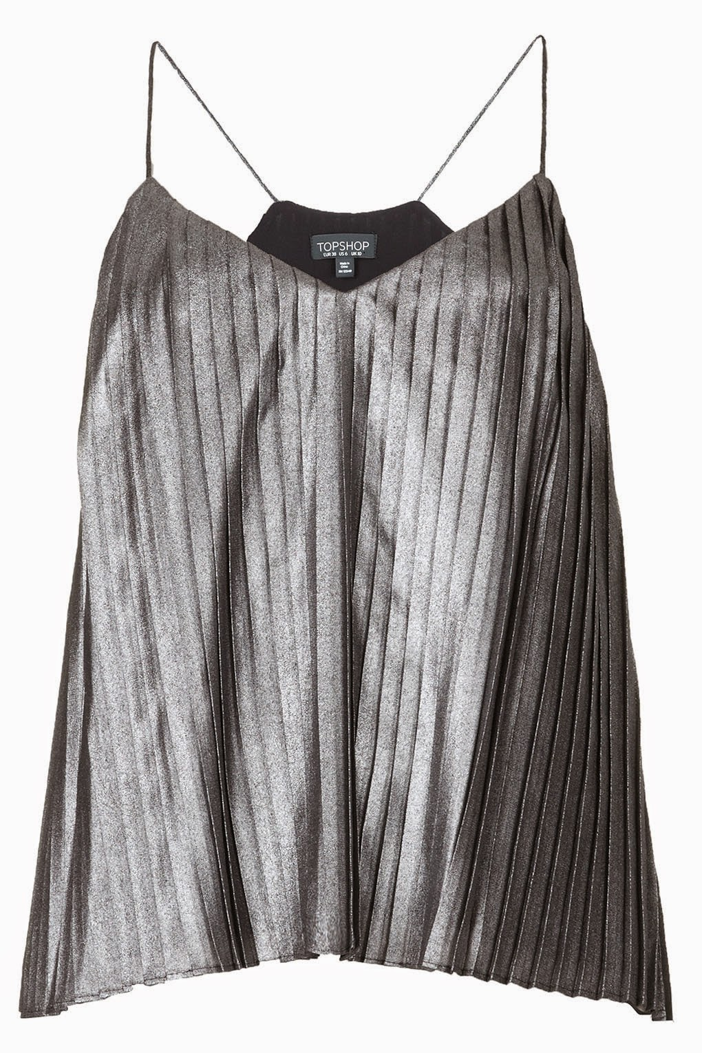 silver pleated top