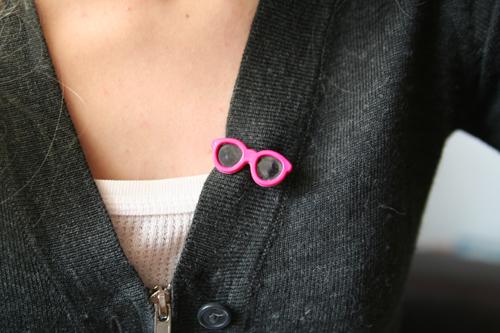 pink sunglasses / rosa solglasögon