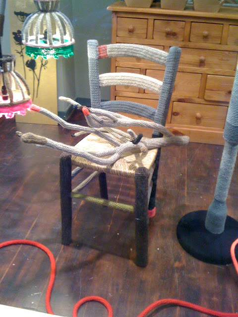chaise crochetée