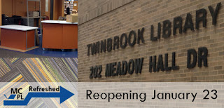 MCPL Refreshed. Twinbrook Library 202 Meadow Hall Dr Reopening January 23
