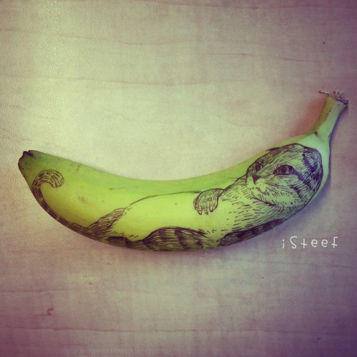 Banana doodles artworks by Stephan Brusche
