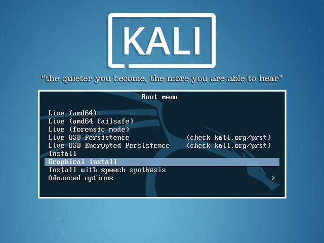 install kali linux on usb using rufus