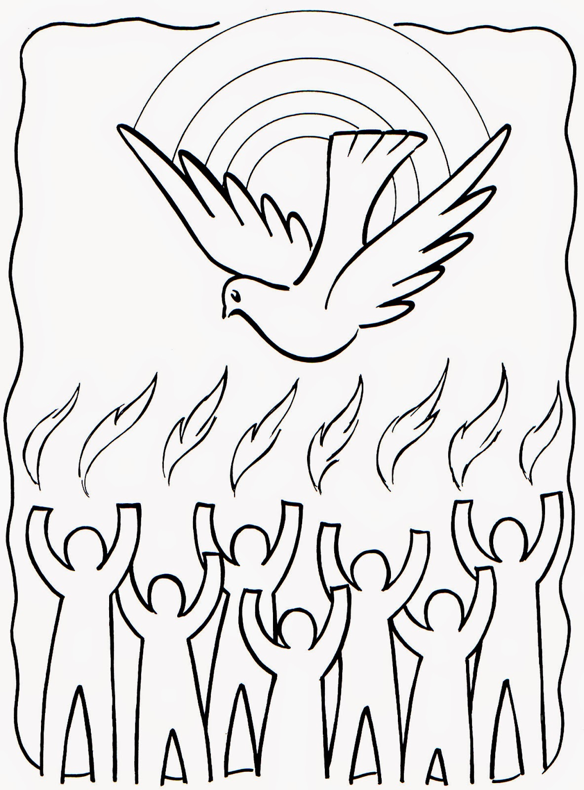 Colección de Gifs ®: IMÁGENES DE PENTECOSTÉS PARA COLOREAR