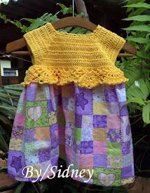 Vestidinho Palinha Amarela